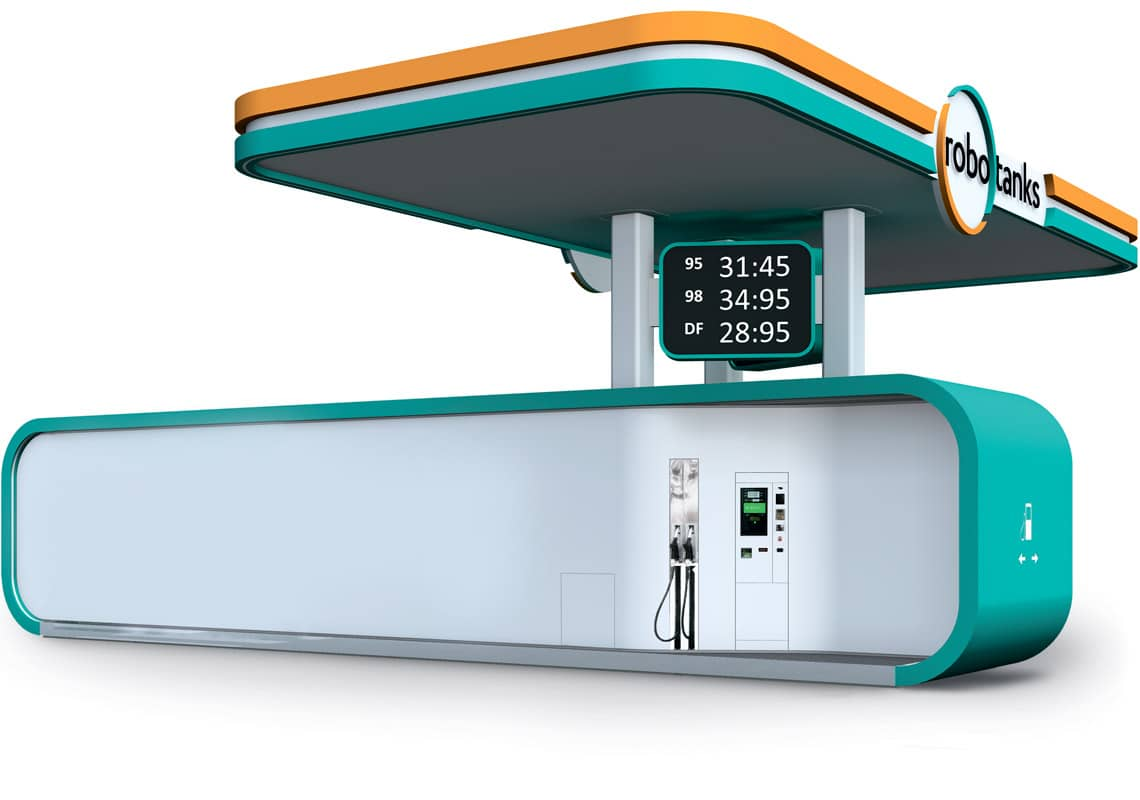 Robotanks k4 container fuel station
