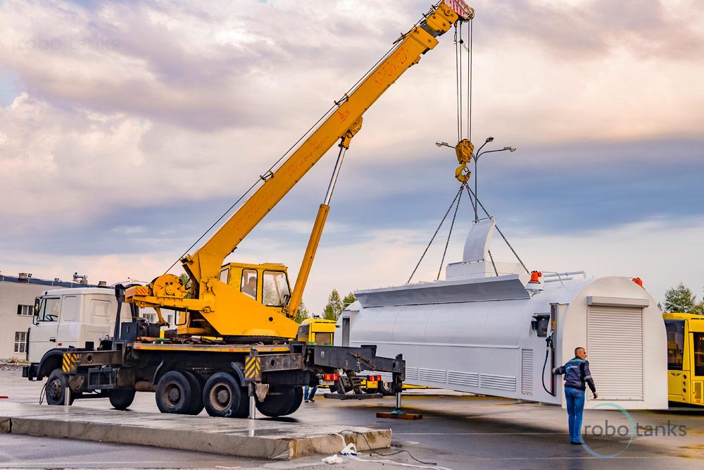 Container fuel filling gas station ROBOTANKS K2