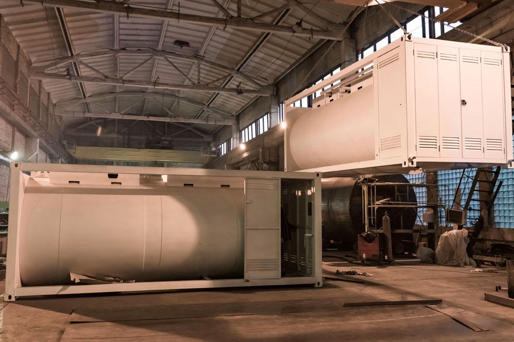 Mobile container fuel gas station - Robotanks KM