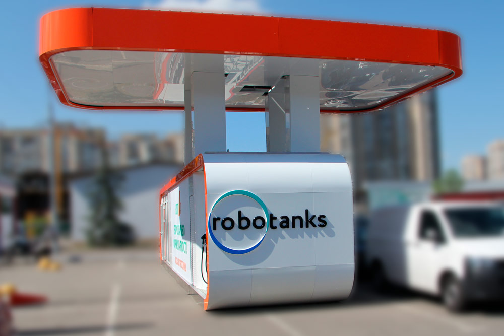 Robotanks k4 container petrol station