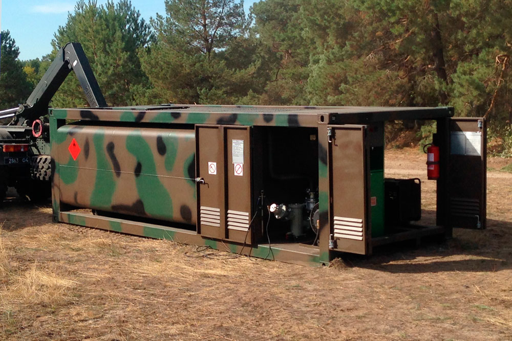 Mobile container fuel gas station - Robotanks KM 3