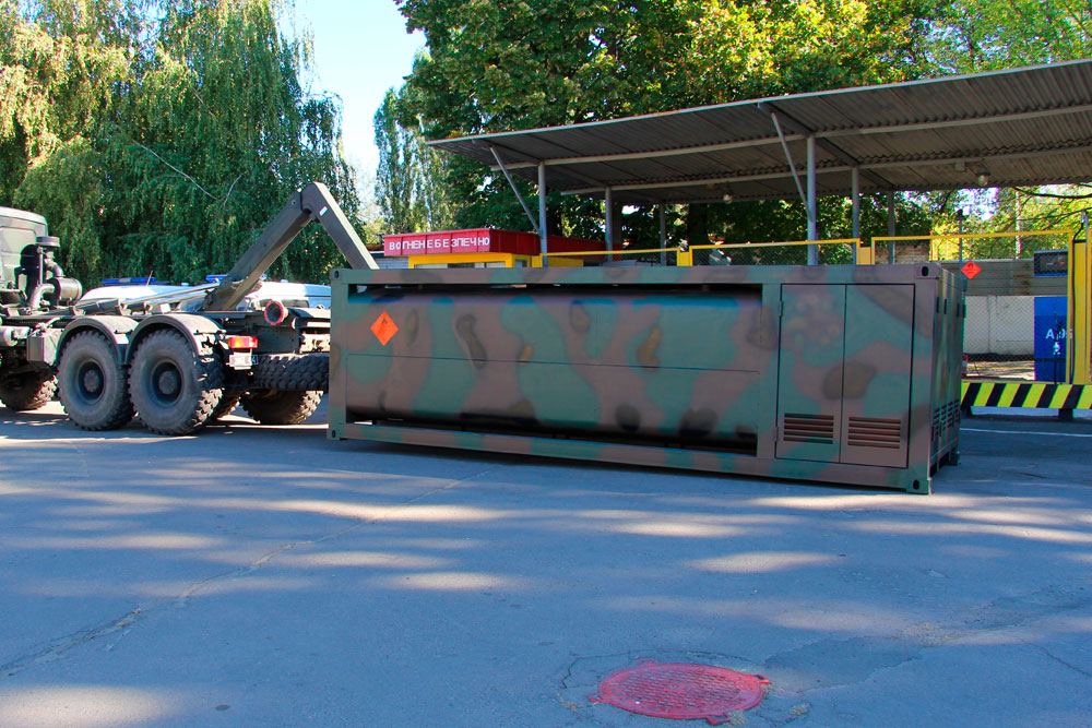 Mobile container fuel gas station - Robotanks KM